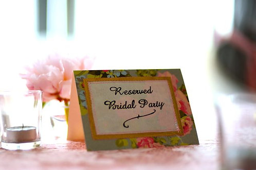 'Save Me 2' - Bridal Party Reserved Sign