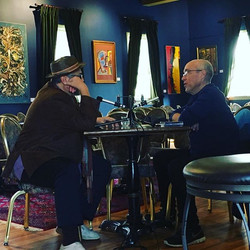 Dave Douglas records his podcast at the Jazz Loft engineered by Eric Dodenhoff with special guest Jo