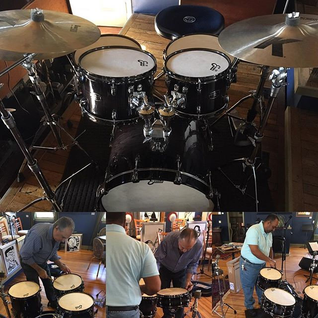 Evans artist Steve Salerno donated a wonderful set of Evans calftone 56 drum heads for the Loft hous