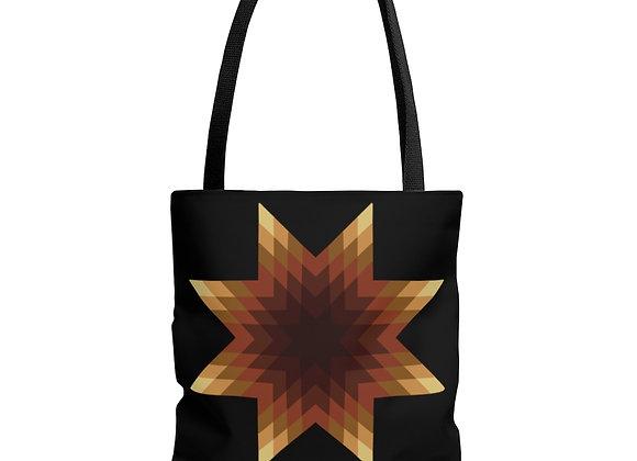 Star Quilt Pattern - Browns AOP Tote Bag