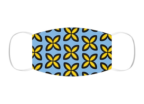 Yellow and Blue Snug-Fit Polyester Face Mask