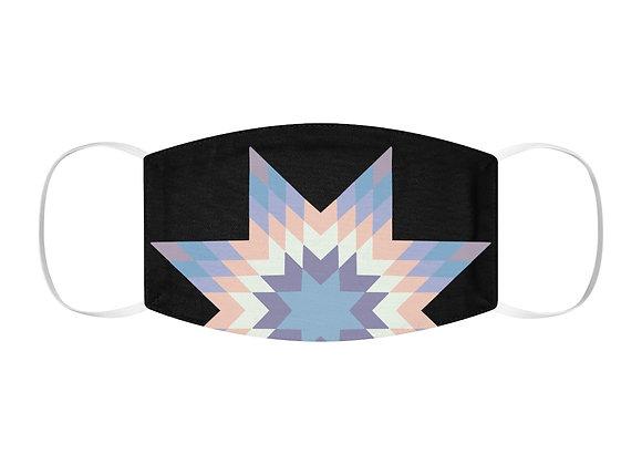 Star Quilt Pattern - Pastels Snug-Fit Polyester Face Mask