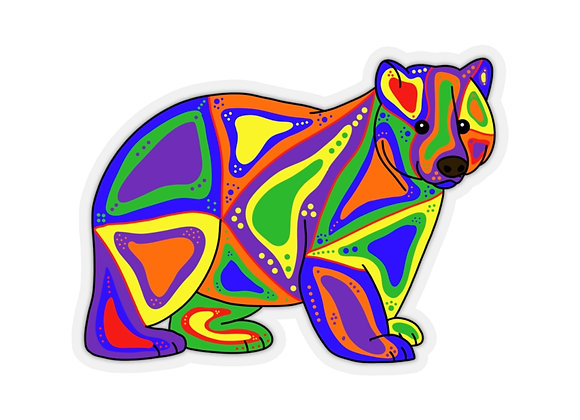 Makwa - Bear - Kiss-Cut Stickers