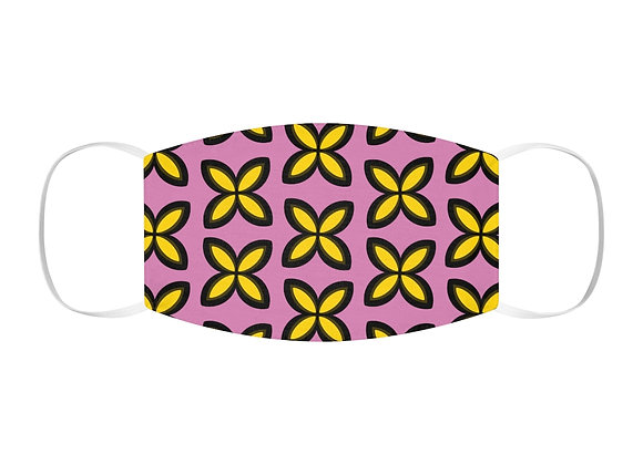 Yellow and Pink Snug-Fit Polyester Face Mask