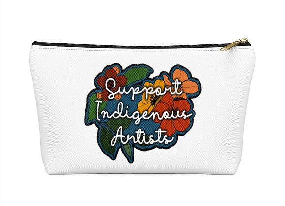 Support Indigenous Artists Accessory Pouch w T-bottom