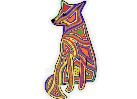 Coyote Kiss-Cut Stickers