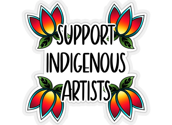 Support Indigenous Artists Kiss-Cut Stickers
