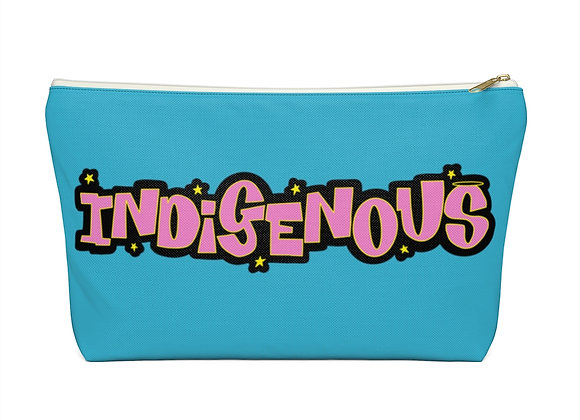 Pink Indigenous Blue Accessory Pouch w T-bottom