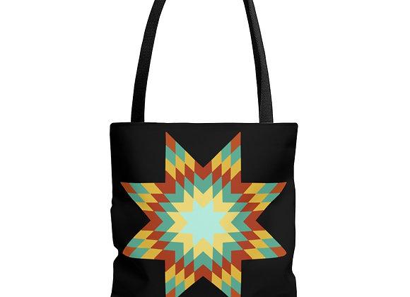 Star Quilt Pattern AOP Tote Bag