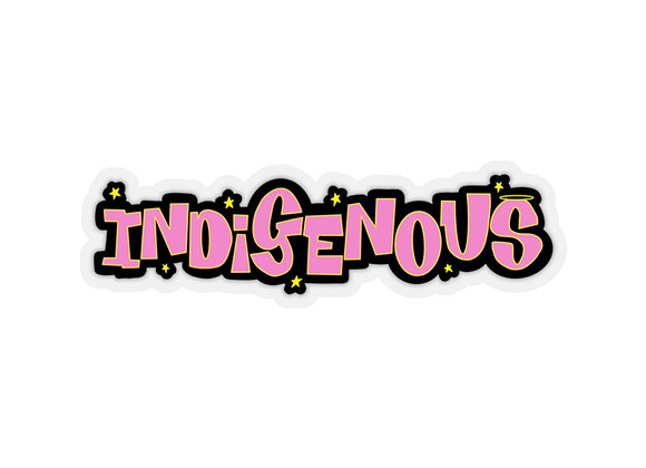 Pink Indigenous Kiss-Cut Stickers
