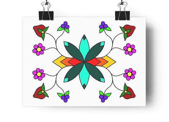Florals and Ode'imin Giclée Art Print
