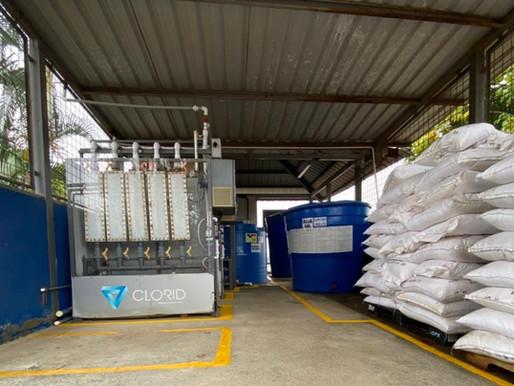 Producción de cloro in situ por electrólisis de salmuera, cloración más rentable y sostenible.
