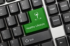 Conceptual Keyboard - Healthy Lifestyle
