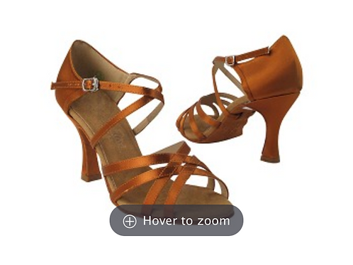 "Copper Tan Satin 3"" Heel"
