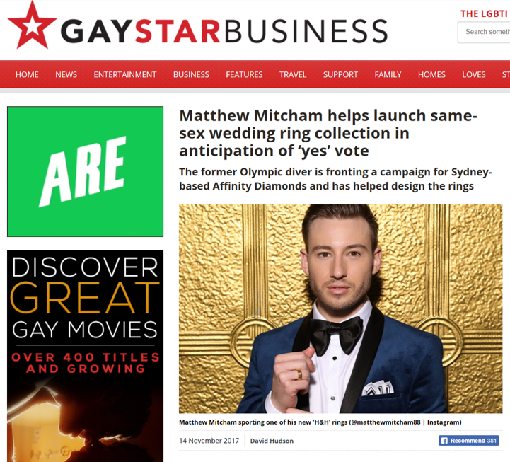 GAY STAR - MATTHEW MITCHAM X AFFINITY DIAMONDS