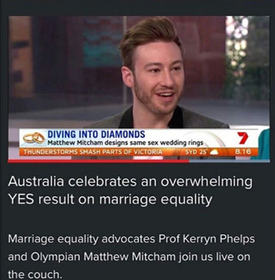 CHANNEL 7 SUNRISE - MATTHEW MITCHAM X AFFINITY DIAMONDS