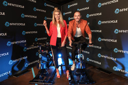 TEGAN MARTIN & DONNY GALELLA INFINITE CYCLE LAUNCH PITT ST 24th OCTOBER 2017 2