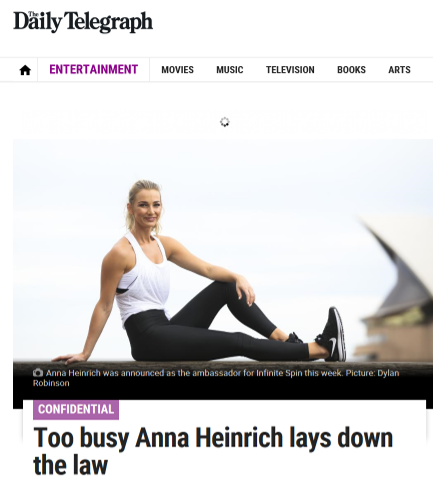 DAILY TELEGRAPH - ANNA HEINRICH X INFINITE CYCLE