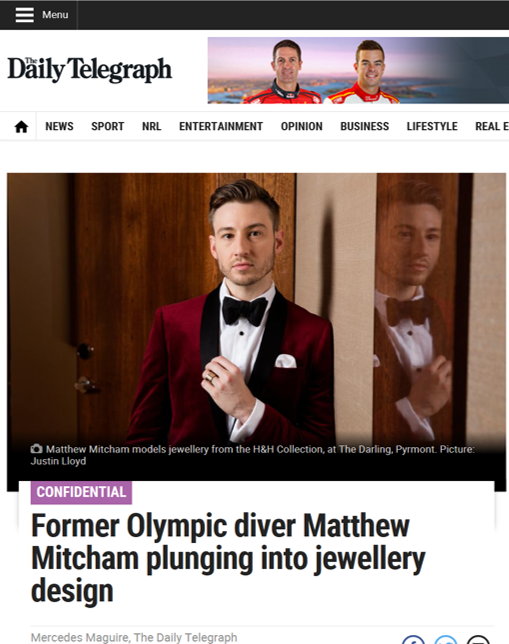 The Daily Telegraph - Matthew Mitcham X Affinity Diamonds Feature