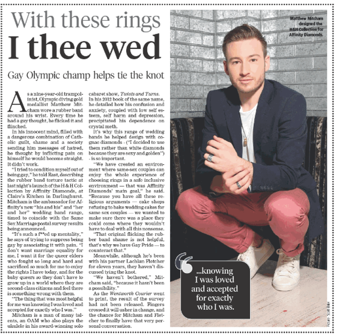 WENTWORTH COURIER - MATTHEW MITCHAM X AFFINITY DIAMONDS