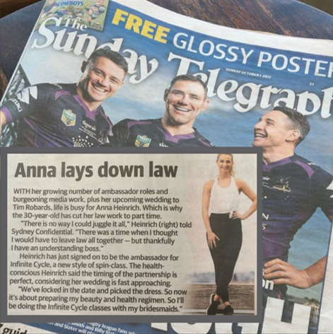 SUNDAY TELEGRAPH - ANNA HEINRICH X INFINITE CYCLE