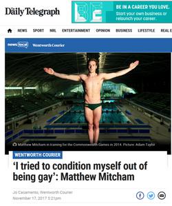 The Daily Telegraph - Matthew Mitcham X Affinity Diamonds