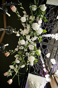 wedding ceremony flowers arch Everett Golf & Country Club Alante Photography