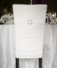Chair cover with rhinestone buckle