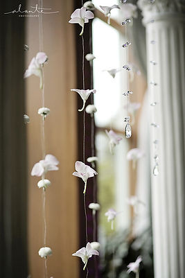orchid and crystal flower chain Alante Photograpy