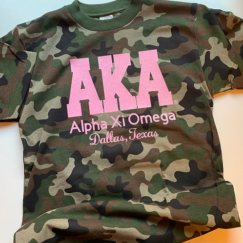Alpha Xi Omega Camo Chapter Tee