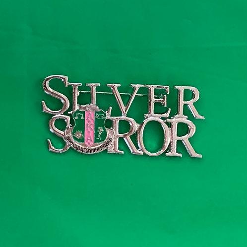 Silver Soror Brooch