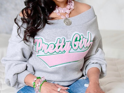 Pretty Girl - Off the Shoulder Sweatshirt