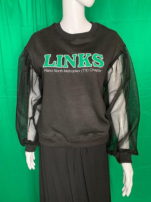Links Sheer Sleeve Chapter Sweatshirt