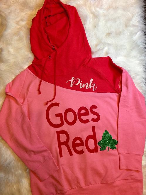 AKA Pink Goes Red Hoodie