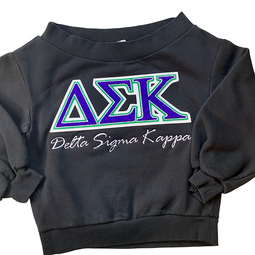 Delta Sigma Kappa - Off the Shoulder Sweatshirt