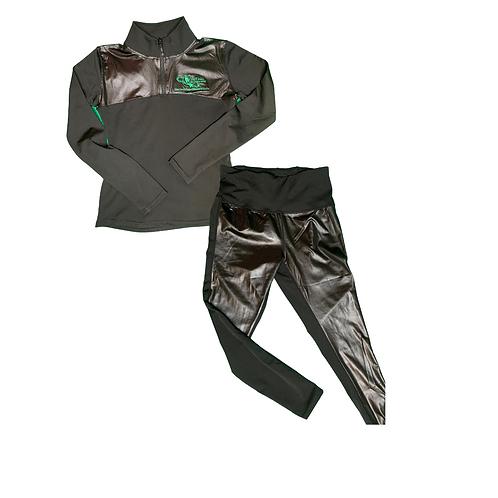 Links Glossy Half Zip Pullover Set