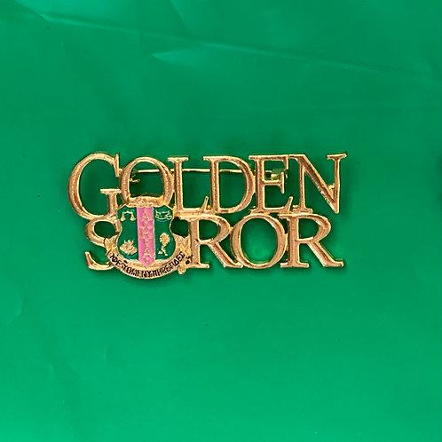 Golden Soror Brooch