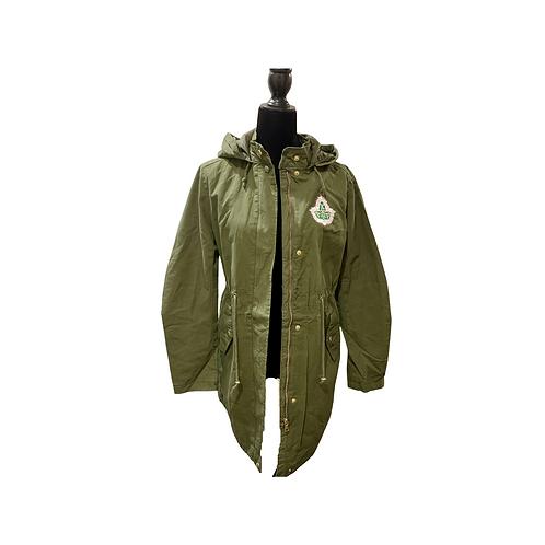 Army Green Cargo Drawstring Jacket