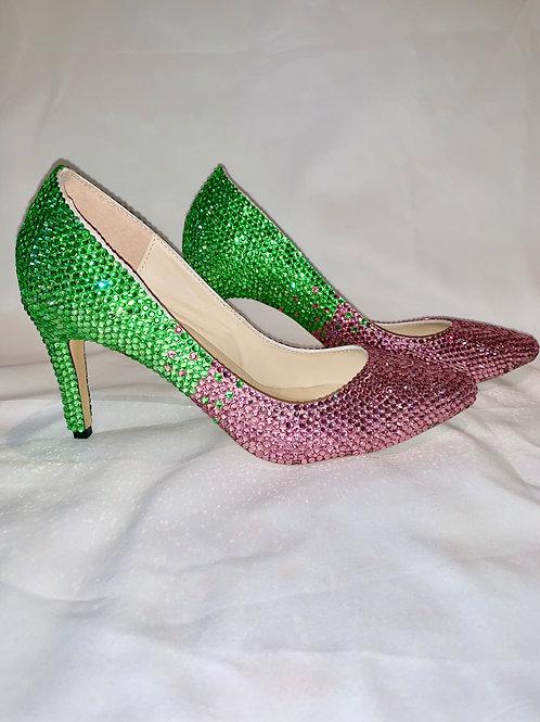 Pink & Green Ombre Heels