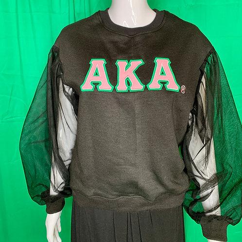 AKA Sheer Sleeve  Sweatshirt
