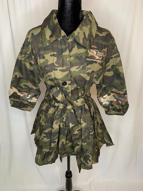 Links Camo & Sequin Jacket