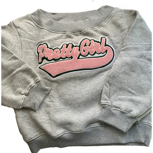 Princess Version - Pretty Girl Off the Shoulder Sweatshirt