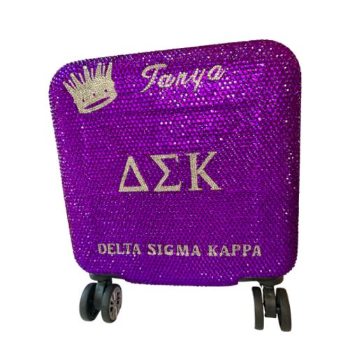 Delta Sigma Kappa Bling Luggage