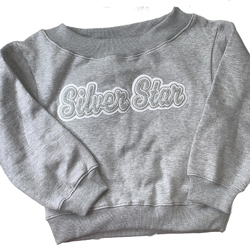 Silver Star - Off the Shoulder Sweatshirt