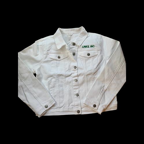 Links White Denim Jacket