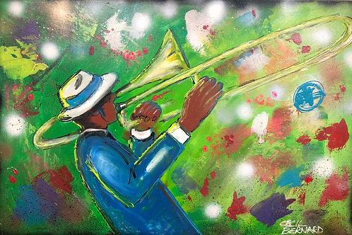 Blue Trombone Guy