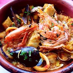 サルスエラ(スペイン風魚介類のスープ)