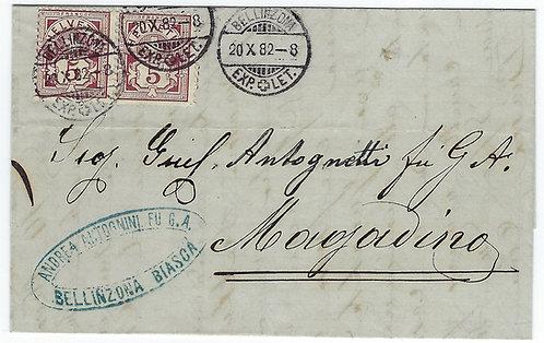 Bellinzona nach Magadino 1882