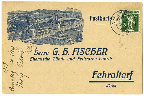 Amsteg Postkarte von 1817