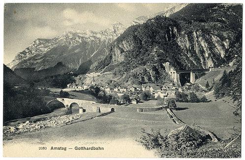 Amsteg Ansichtskarte um 1910